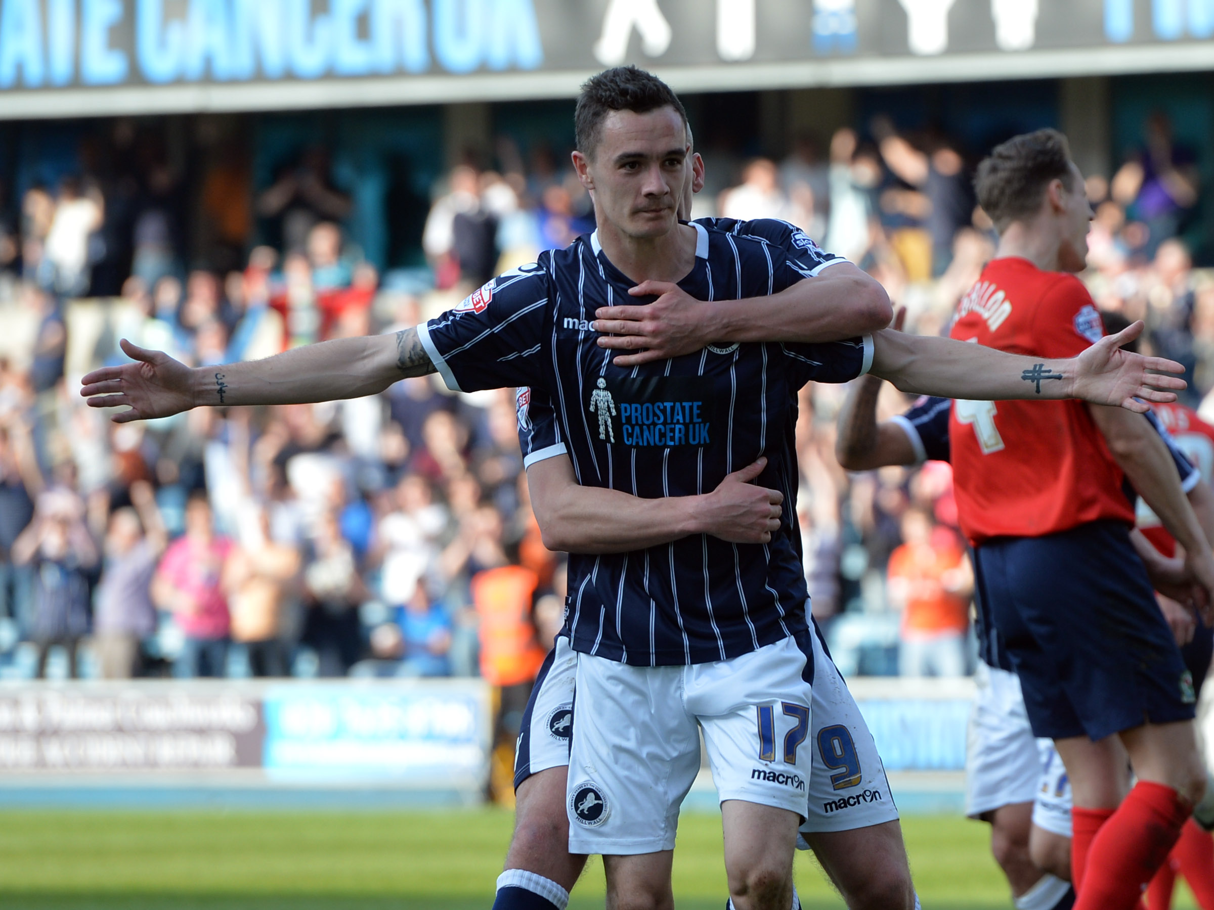 News Shopper: Williams celebrates firing Millwall in front