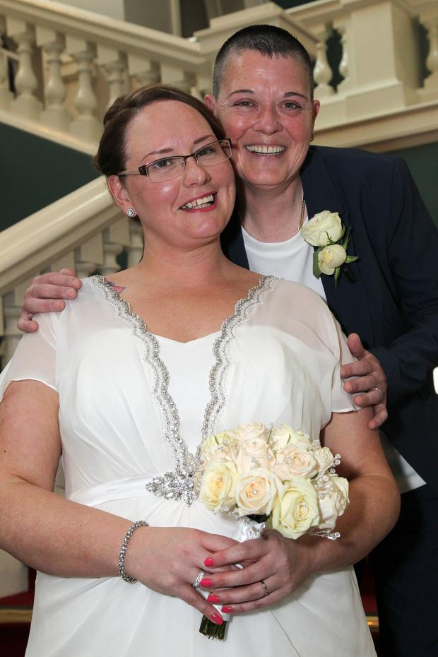 News Shopper: Woolwich's first gay marriage as Mottingham brides tie the knot