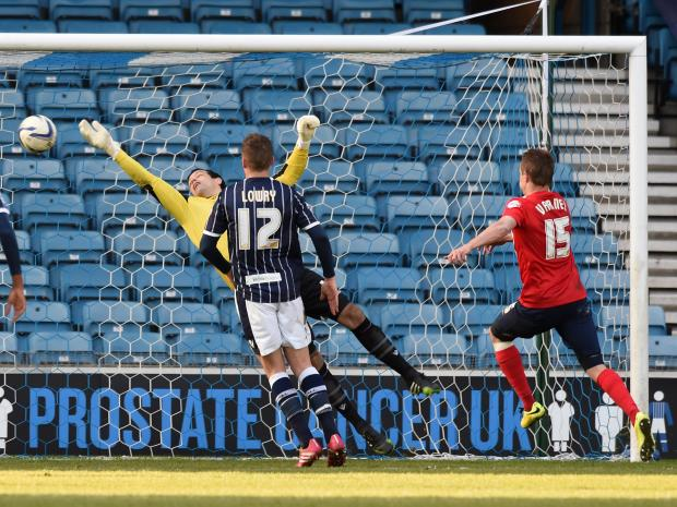 Not for the firest time this season, David Forde comes to Milllwall's rescue with another top class save against Blackburn on Saturday. Picture by Keith Gillard.