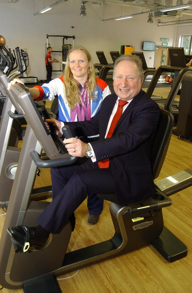 News Shopper: Susie Rodgers and Cllr Peter Kotz at Charlton Lido's relaunch