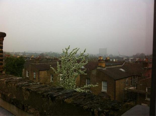 The smog in Lewisham on Thursday