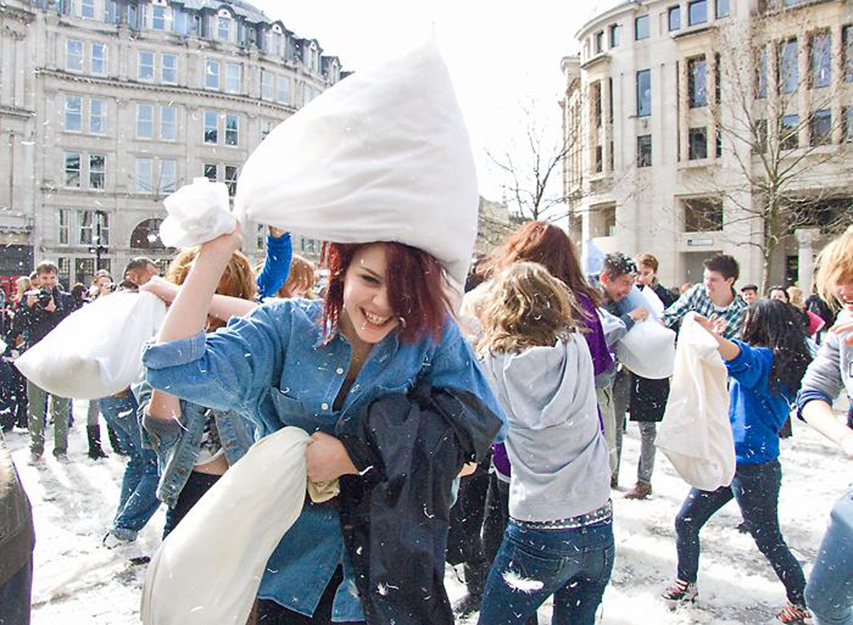 Pillows at the ready for International Pillow Fight Day. Pic by Chris Beckett via Flickr