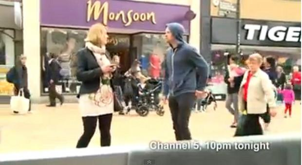 The mugging was filmed in Bromley High Street last Thursday