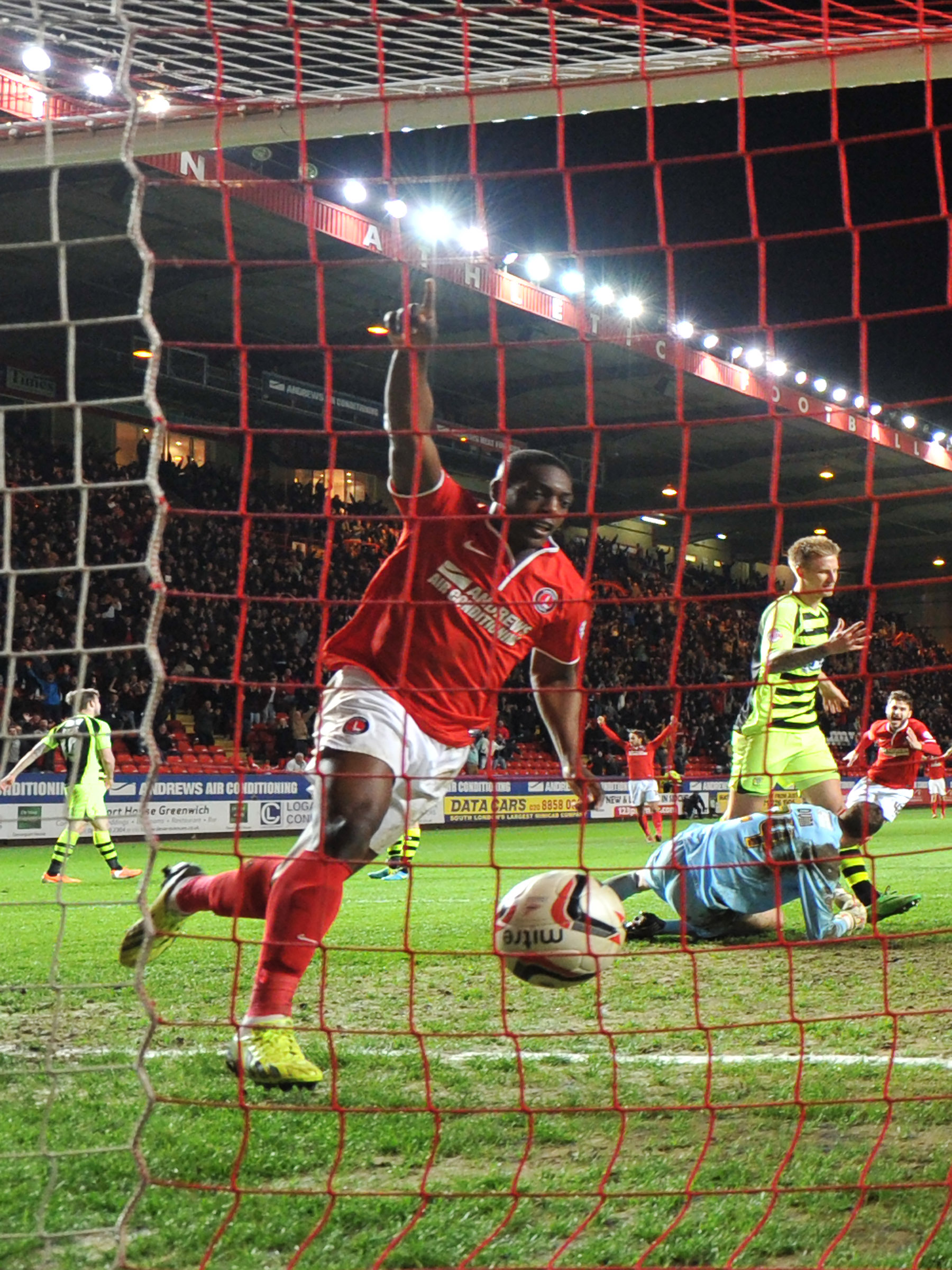 News Shopper: Marvin Sordell celebrates making it 3-1