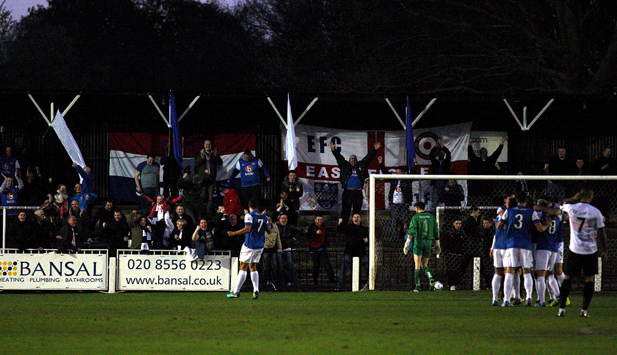 News Shopper: Eastleigh celebrate Ben Wright's opener
