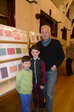 Club president Graham Brown with his grandchildren