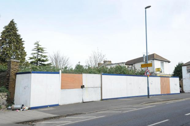 The derelict site in East Milton Road