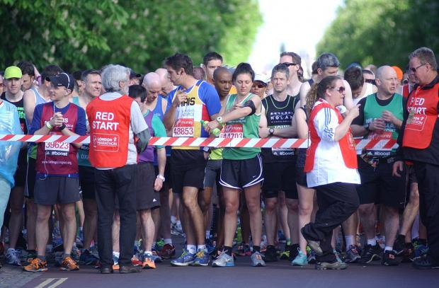 News Shopper: PICTURED: London Marathon 2014 runners through Greenwich borough