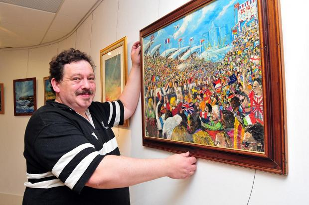 Roger Mortimor has previously exhibited in Gravesend Woodville Halls