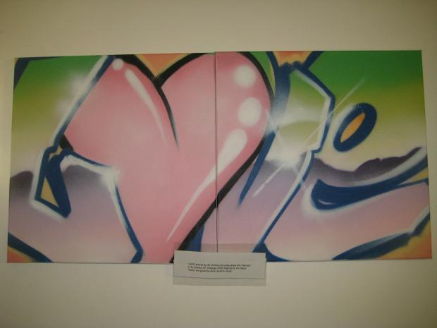 News Shopper: Grafitti artwork produced by the hospice's teens