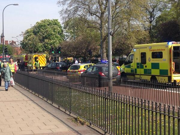 Crash in Lewisham today (April 17)