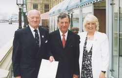 David Watson (left) with Lord Wakeham and Jenny Peel, souvenir secretary at the House of commons