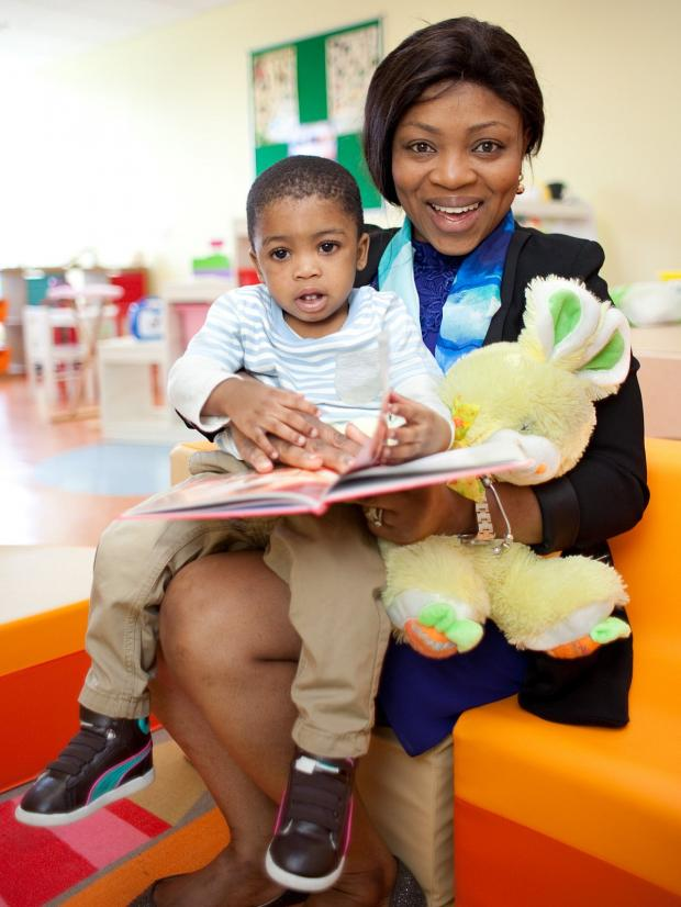 News Shopper: Nursery Director Chizzy Odoh, 35, with Nathan Chukwekere, 1.