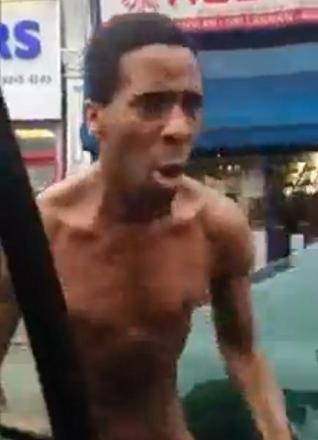VIDEO: Angry naked man in Hither Green
