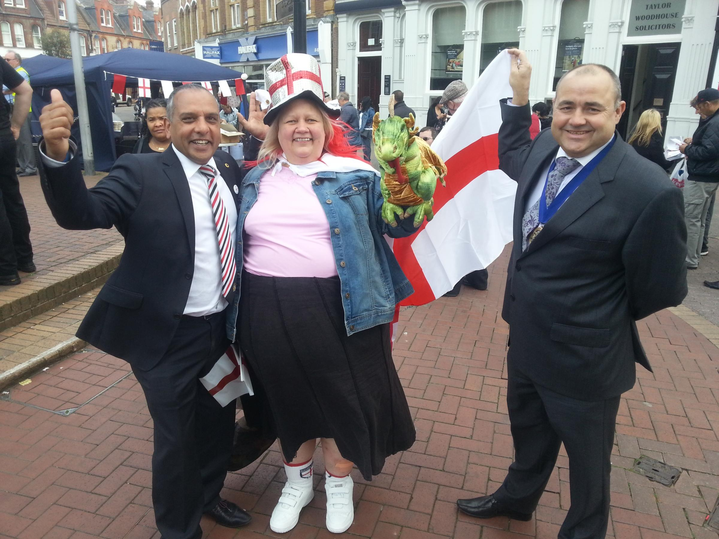 VIDEO AND PICTURES: St George's Day in Dartford and Gravesend