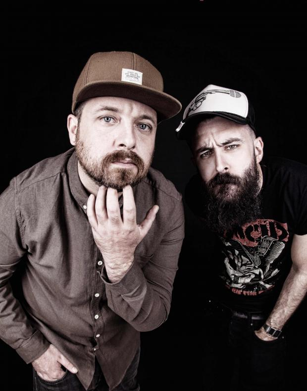 News Shopper: Dan Le Sac (left) and Scroobius Pip. Picture by JoLi Studios