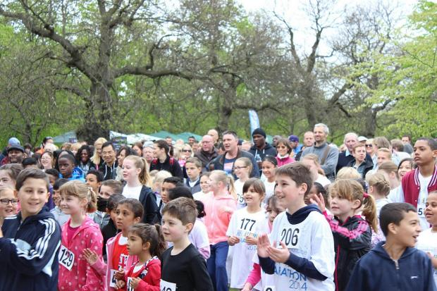 News Shopper: Young Greenwich Park runners go extra mile for Greenwich and Bexley Community Hospice