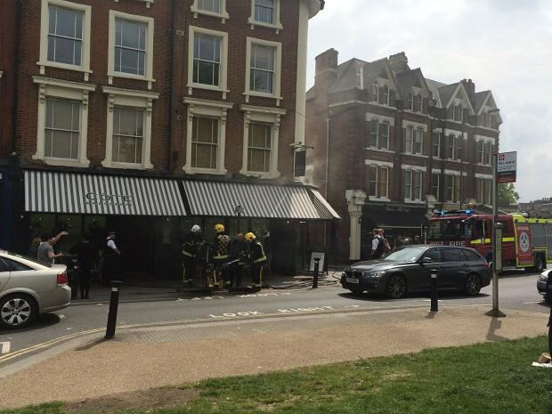 News Shopper: Cote Blackheath fire (pic by Jonathan Dolby)