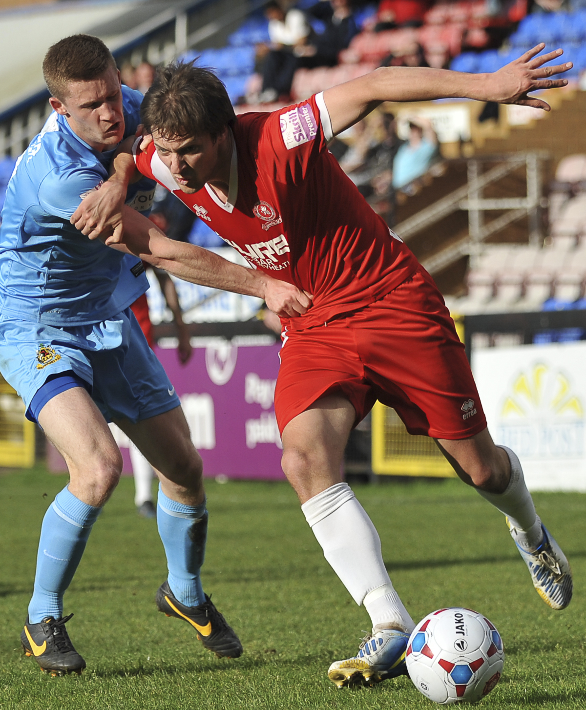 News Shopper: Matty Challoner holds on to Joe Healy