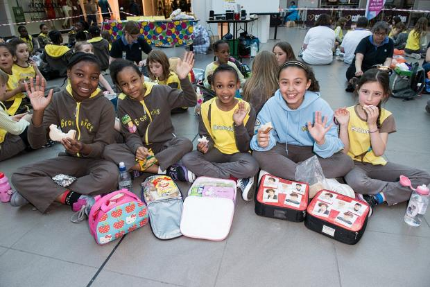 News Shopper: Forest Hill and Sydenham Brownies camp overnight in Lewisham Shopping Centre