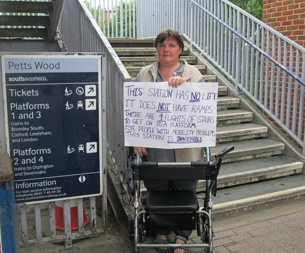 News Shopper: Paula Peters campaigning outside Petts Wood station