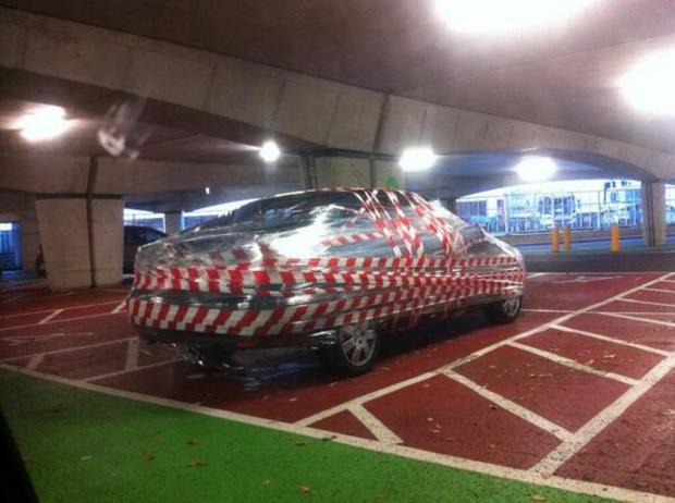 Car all wrapped up in Bluewater car park