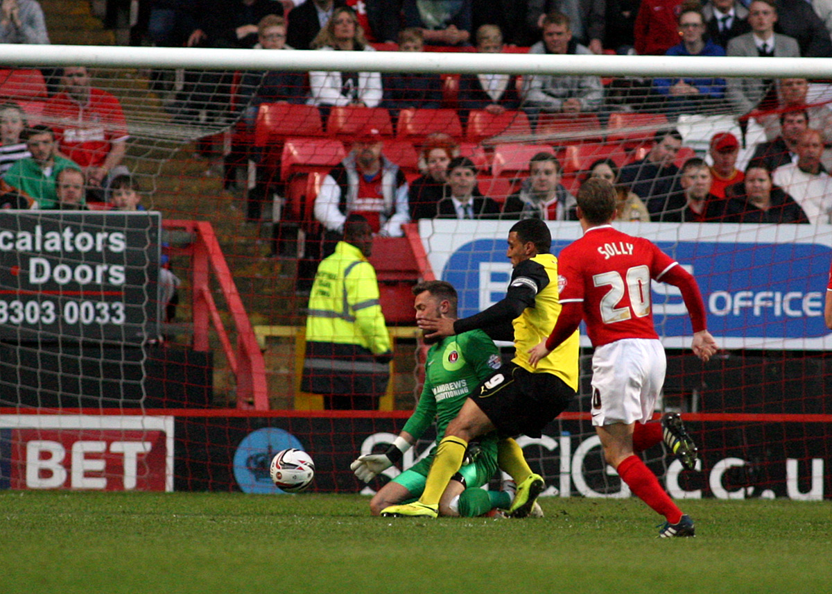 News Shopper: Ben Hamer saves at the feet of Troy Deeney