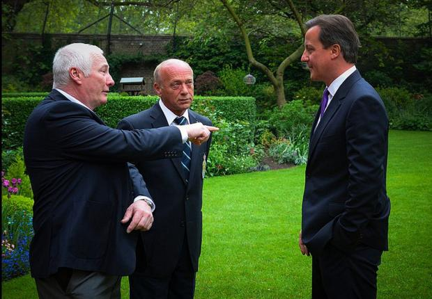 Left to right: Graham Mentor-Morris and Phil Berry with the Prime Minister at Number 10.
