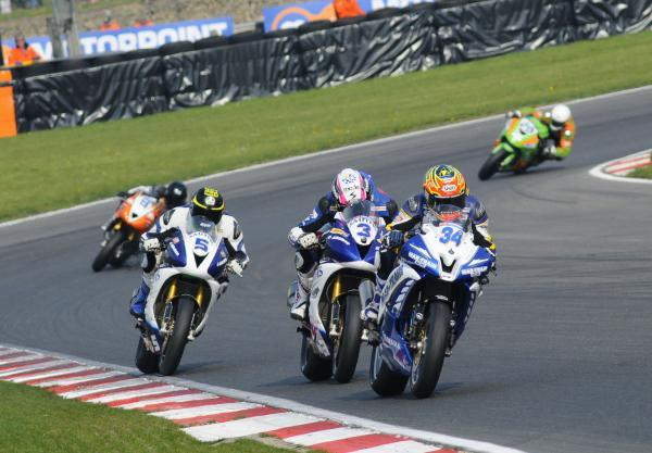 News Shopper: Alastair Seeley (34) won a closely fought Supersport race