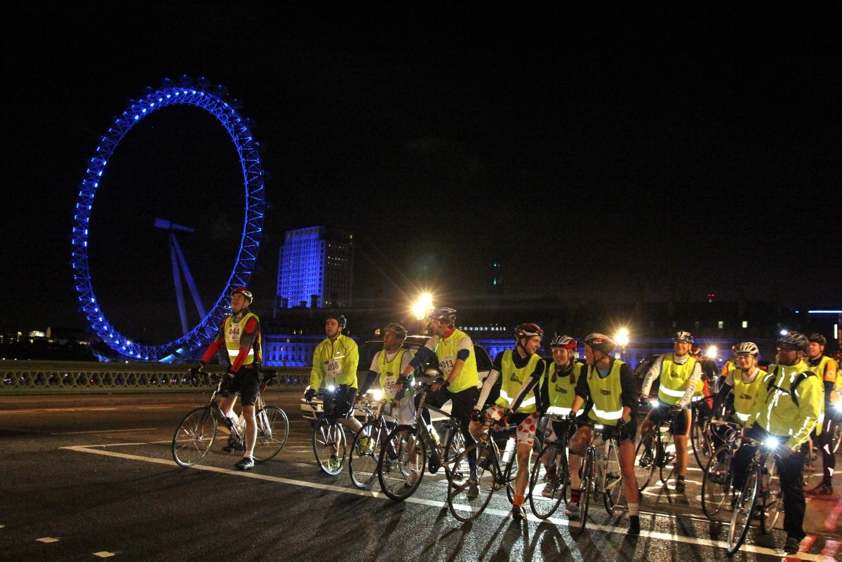 Ride 100km nighttime London cycle for charity