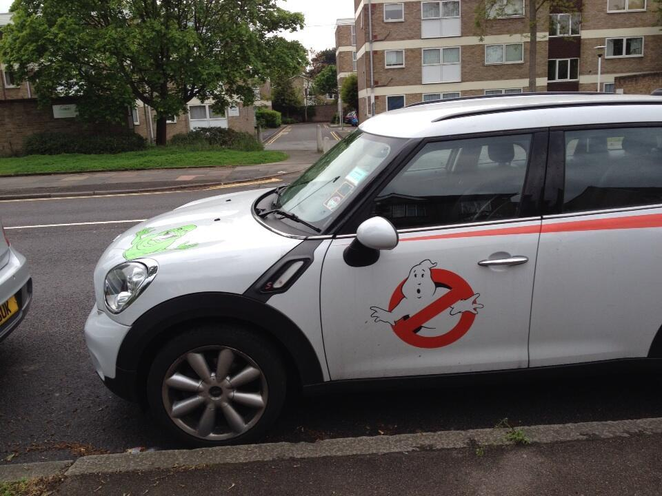 The Ghostbusters are using alternative transport while in the UK