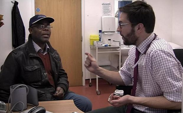 News Shopper: Bertin Koulai, with trainee GP Dr Sam Savage, on GPs: Behind Closed Doors