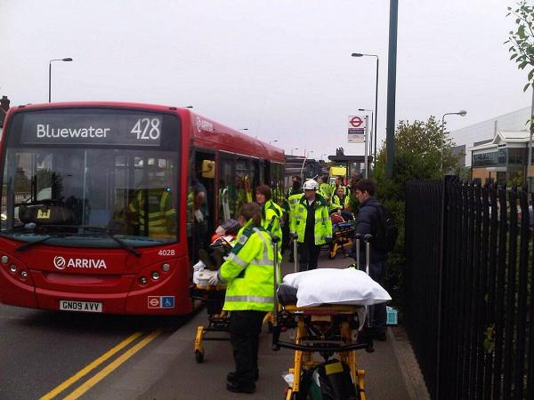 UPDATED: Crash between lorry and bus causes chaos on Thames Road, Crayford