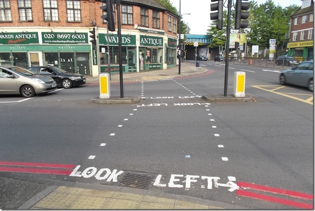 News Shopper: PICTURED: Bungling Hither Green road markers don't know left from right!