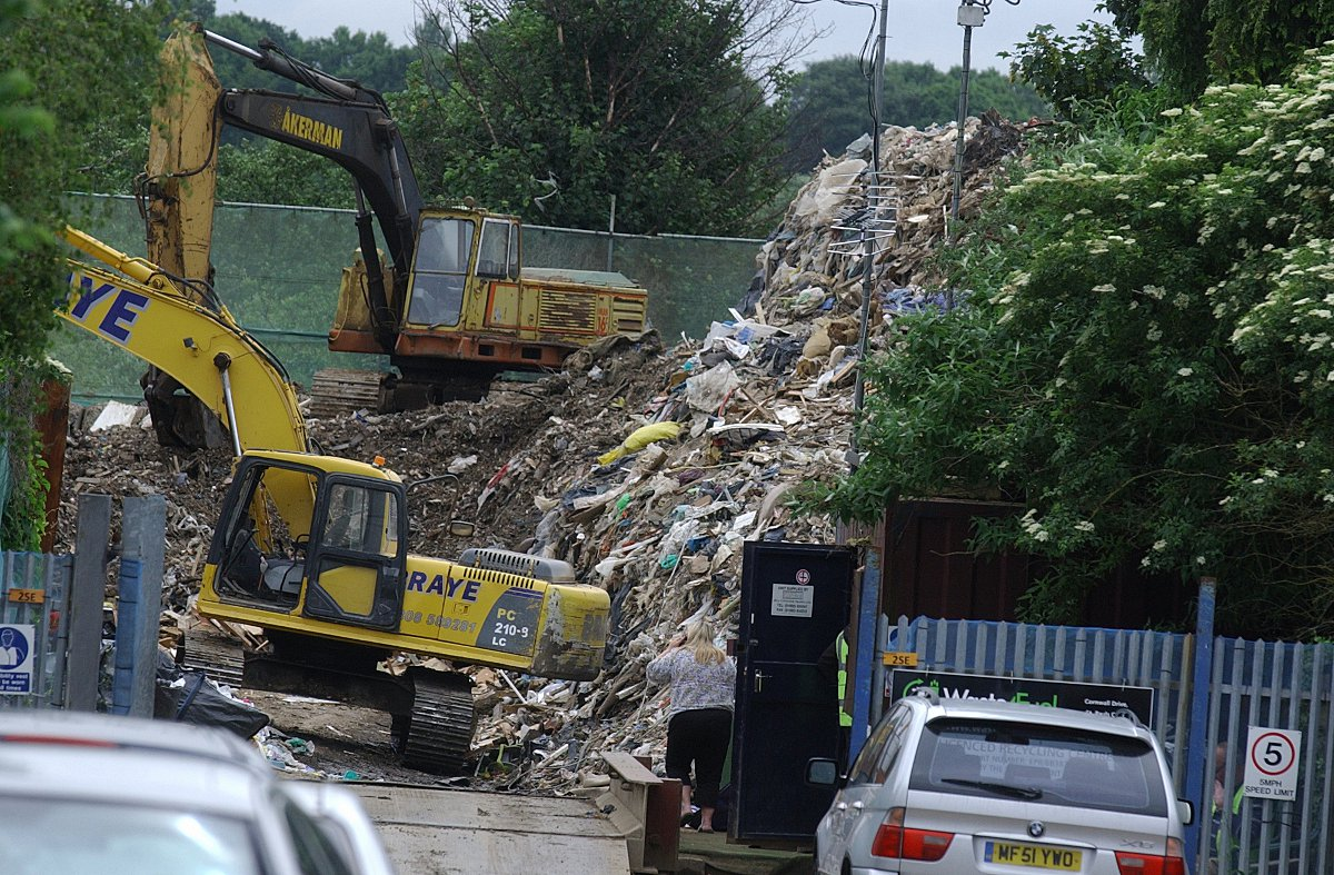 The Waste4Fuel site in Cornwall Drive. Photo taken in June last year