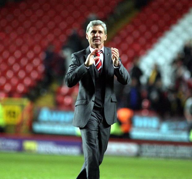 Jose Riga applauds the fans after last week's 3-1 win over Watford but was it a final goodbye? Picture by Edmund Boyden.