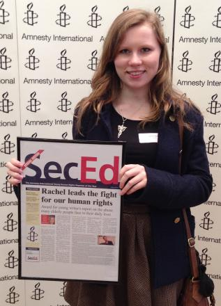 Budding Orpington journalist honoured at national writers' competition