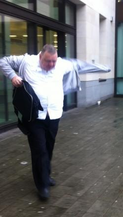 Robert Norman leaving Westminster Magistrates' Court