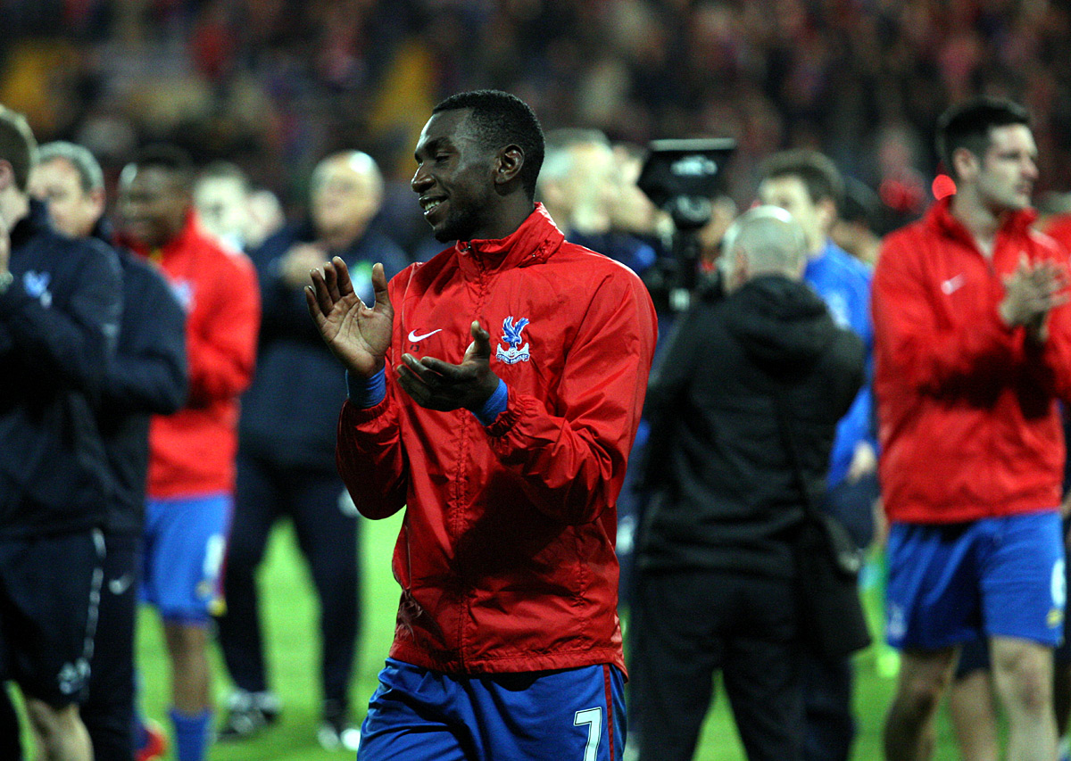 Yannick Bolasie applauds the Pal
