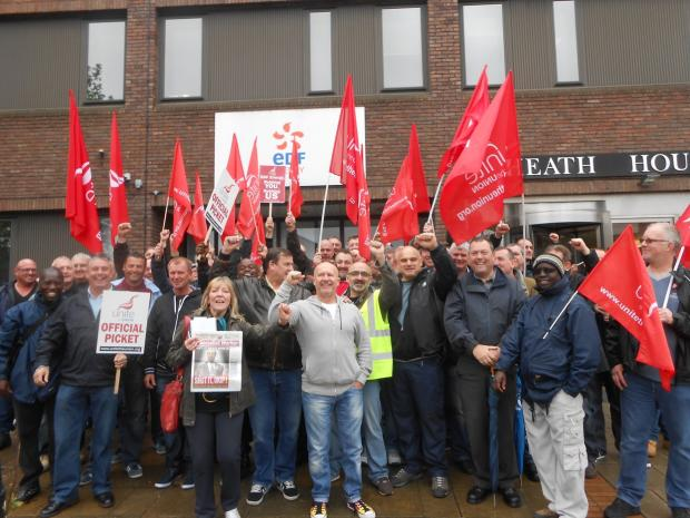 EDF workers take to the streets of Bexleyheath
