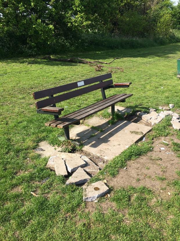 News Shopper: The bench, dedicated to Lee Grant Asseter, in Belmont fields