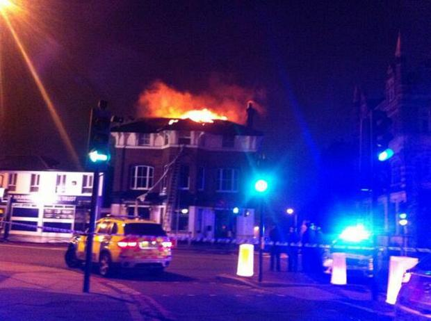 A picture of the fire (by @MPSBrockleySgt)