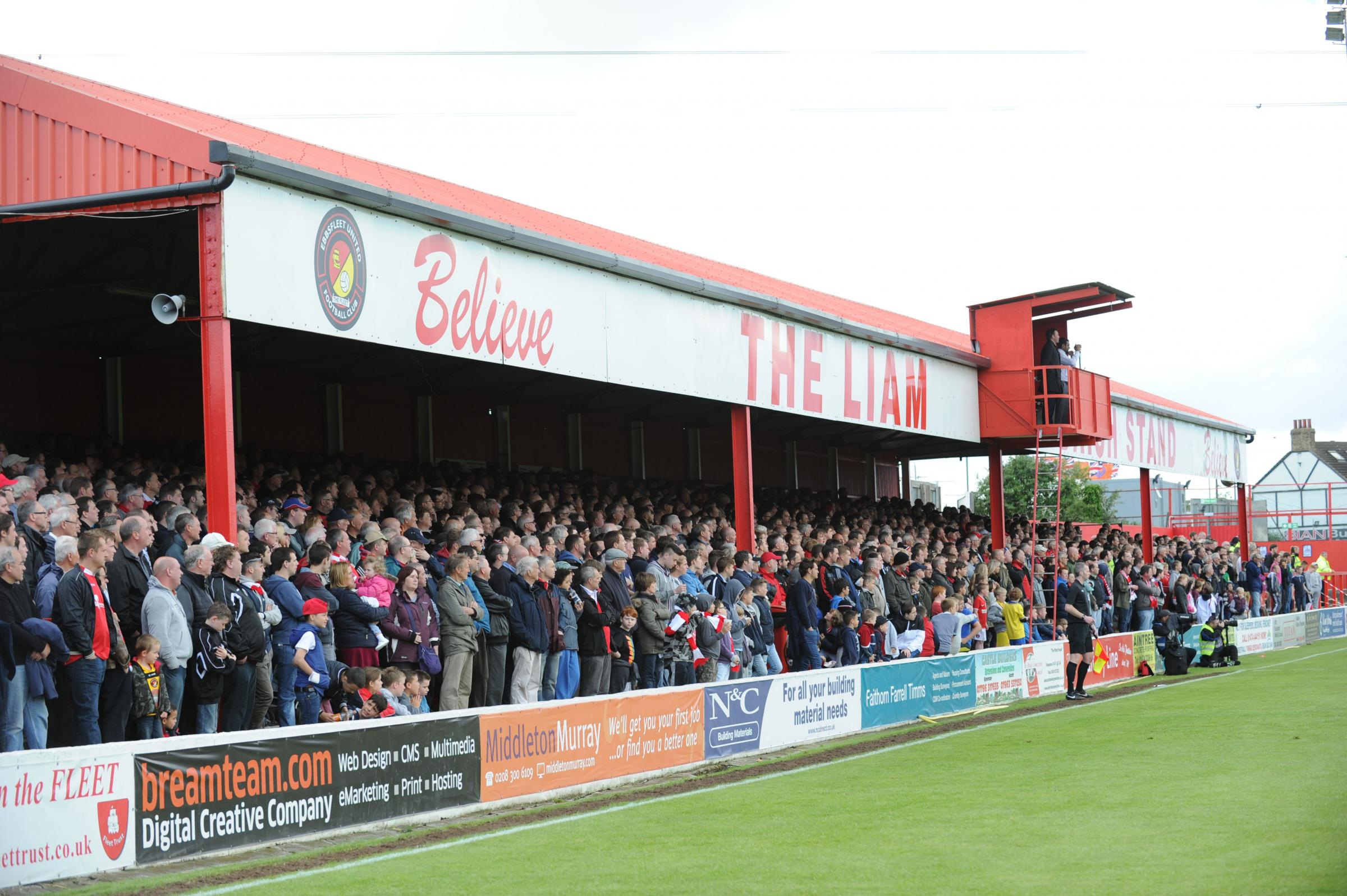 News Shopper: The Liam Daish stand was packed to the rafters by an impressive 4,294. Sadly the home fans had little to cheer.