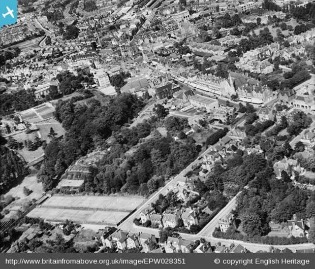 News Shopper: Church House Gardens and the town centre, Bromley, 1929. Photo from English Heritage