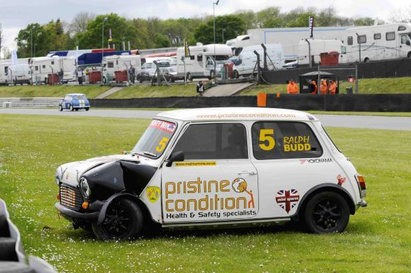 News Shopper: Ralph Budd's Mini is not in such pristine condition after crashing in the Super Mighty Mini race