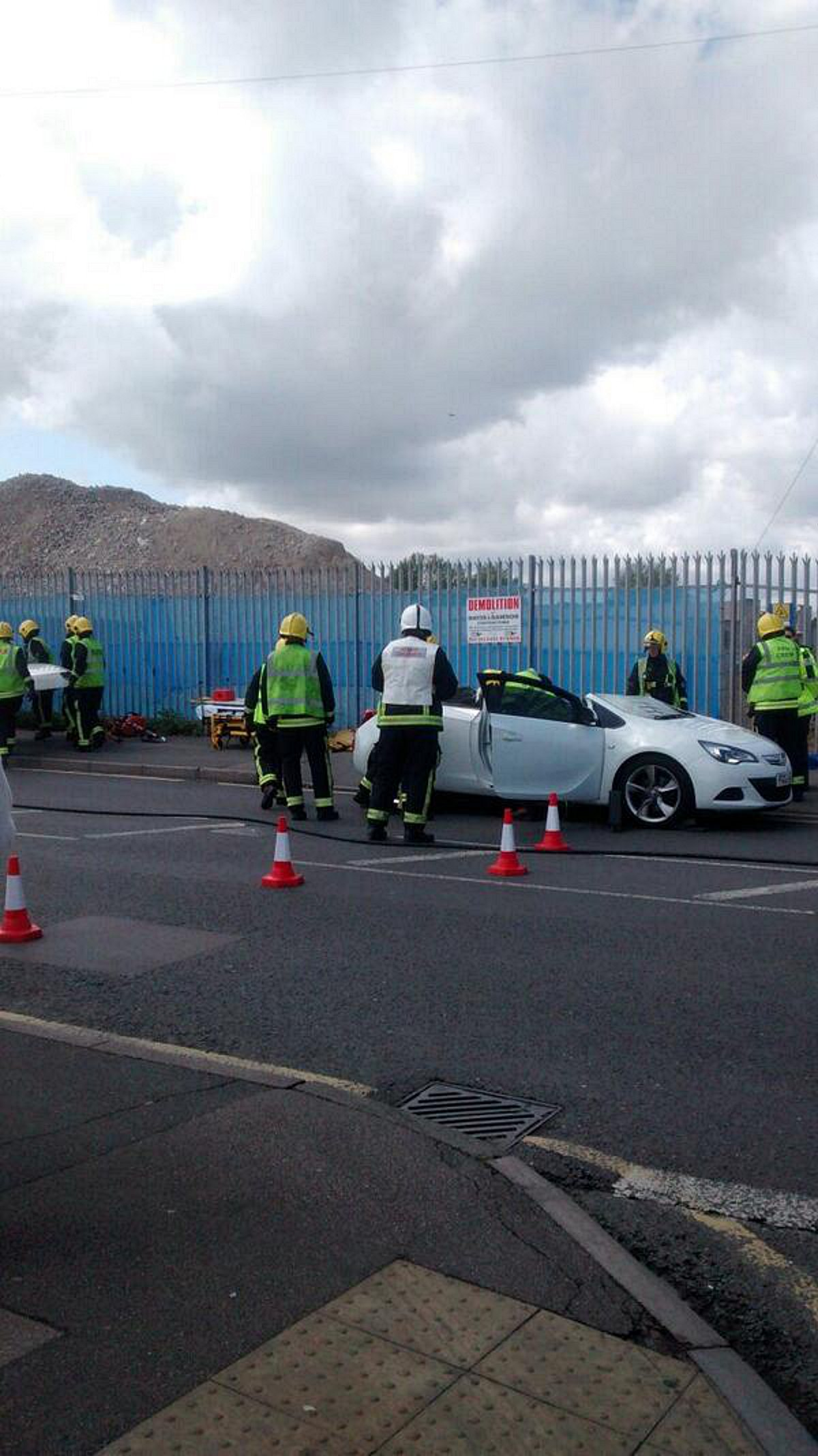 UPDATE: Person cut out of car after Abbey Wood BP garage smash