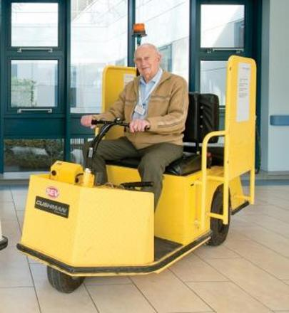 Reg Border worked as a buggy driver at Queen Elizabeth Hospital