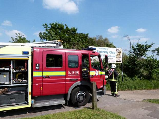 News Shopper: Fire engines at the sports ground (by @TubeRambler)