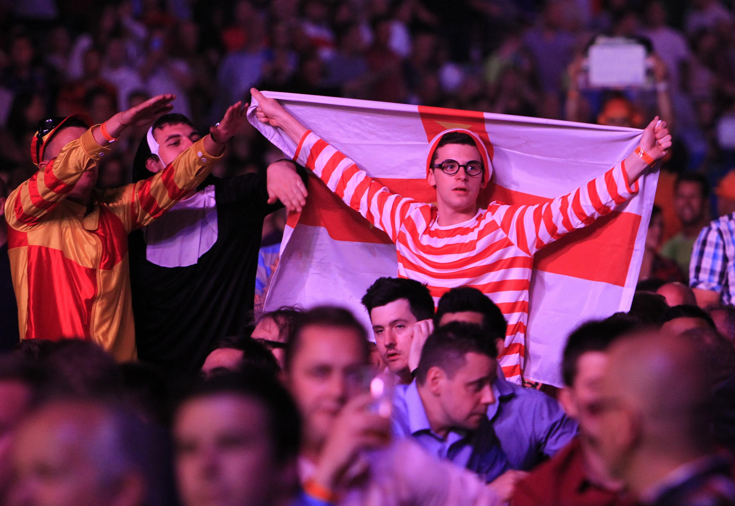 News Shopper: There were the usual fancy dress contingent in the packed O2 crowd including this Where's Wally fan