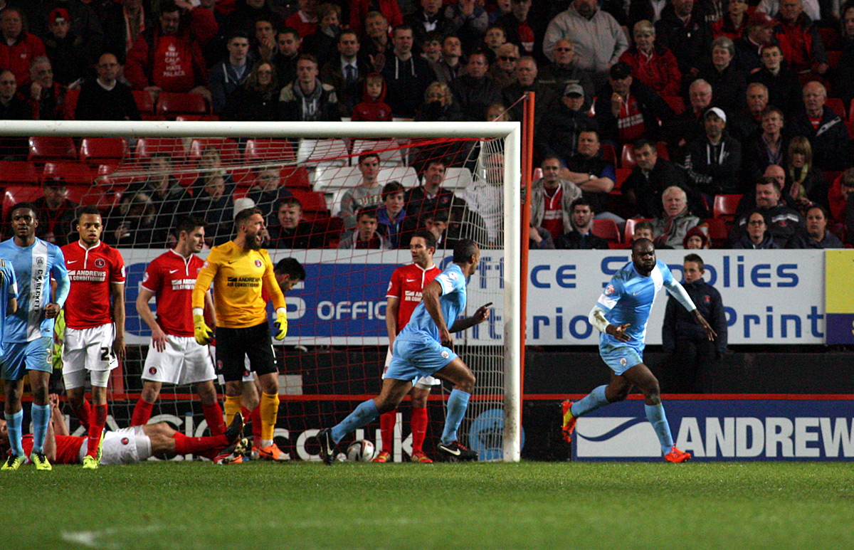 News Shopper: Barnsley's Jean-Yves M'Voto celebrates opening the scoring